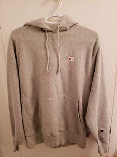 Gray Champion Reverse Weave Hoodie Sweatshirt