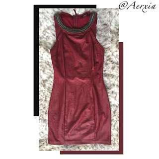 Guess Wine Red Body-con