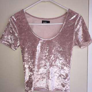 💖Dotti Pink Velvet Shirt