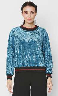 BASH Velvet Pullover