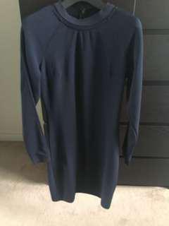 Selling dynamite blue zipper in the back dress small