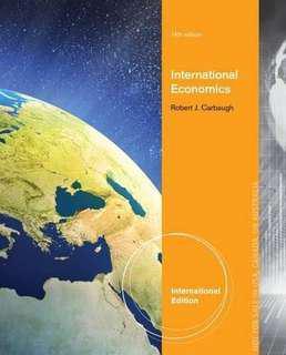 International Economics 14th Edition, Robert J Carbaugh