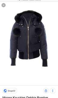 Navy Blue Moose Knuckle Coat