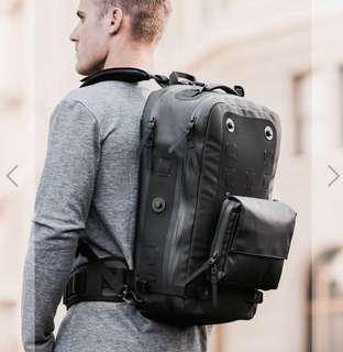 Black ember modular waterproof backpack