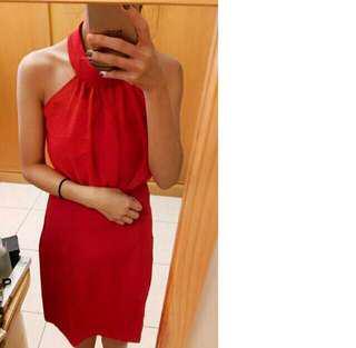 🚚 紅色 婚禮 露肩露背小洋裝 性感