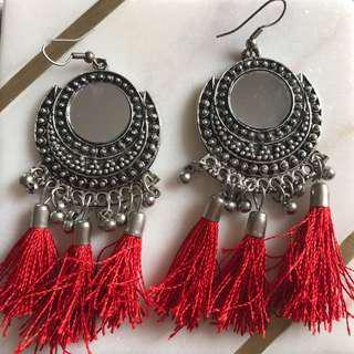 Tassel dangle earrings