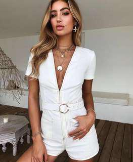 Tiger mist white play suit