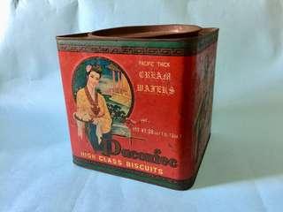 Vintage Pacific Paconfec Tin Box 老香港 古董珍藏 五夾威化餅乾罐