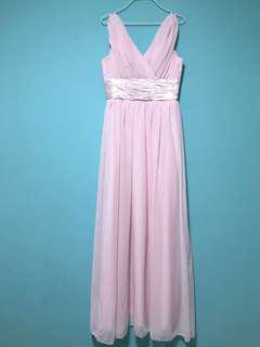 Soft Pink Sleeveless Maxi Dress