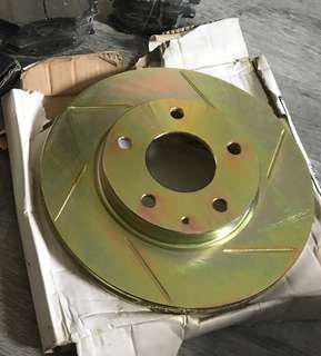 Mazda 3 bm / bn 2014 onwards gold front slotted rotor