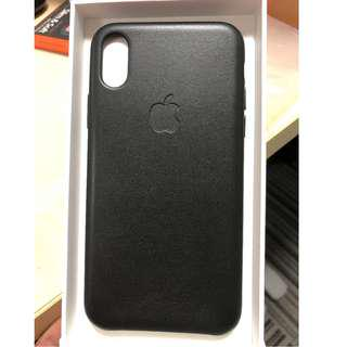 Authentic Apple Leather Case for iPhone X (Black)
