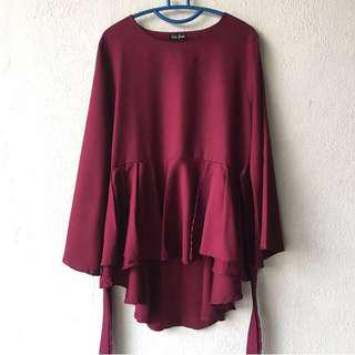 Flare Pleated Blouse