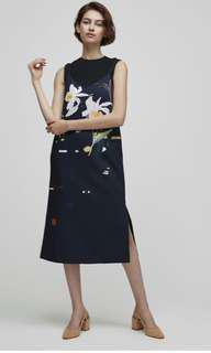 Our Second Nature (OSN) Lily of the Valley Slip Dress Navy