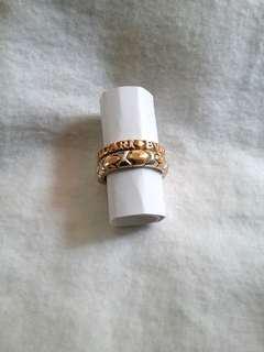 Bvlgari ring 750 gold ,1 pair.