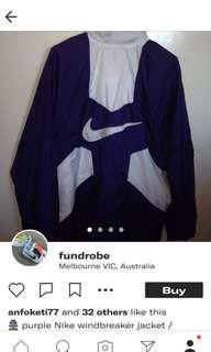 Rare Nike Windbreaker