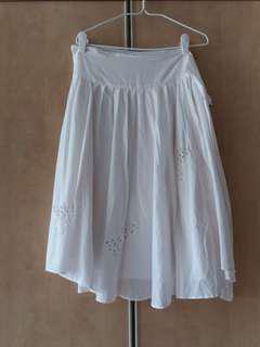 Island Shop White Wrap Skirt