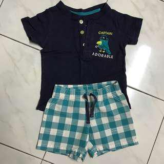 Carter's T-shirt and Pants set, for baby boy 12mo