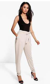 Tapered Cream Trousers