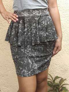 Peplum Office Skirt