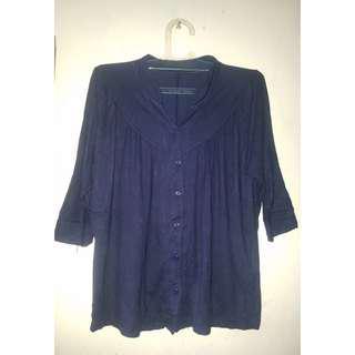 3/4 Tshirt Blue