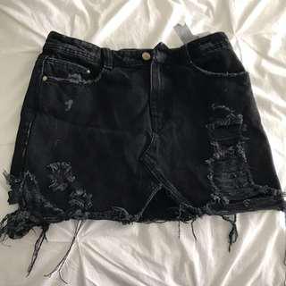 Zara denim skirt new