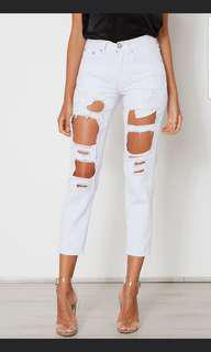 Ripped white Jean's