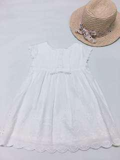 Baby Embroidered White Dress