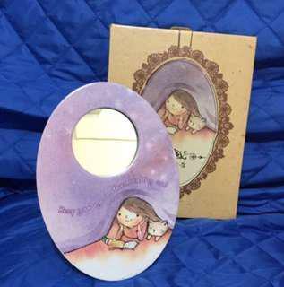全新小喬座枱鏡子(可掛牆)