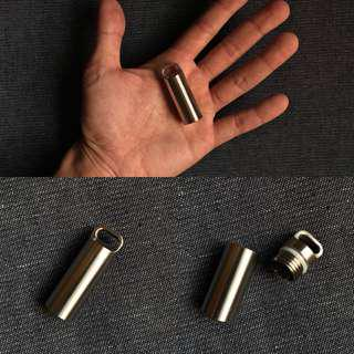 USA Stainless Steel EDC Keychain Cash Stash - Waterproof & Impact-proof