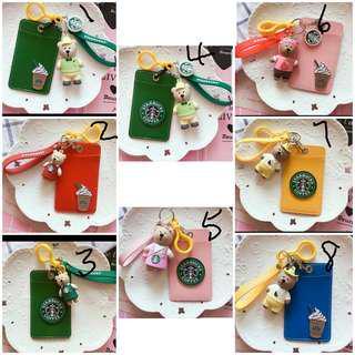 <Juniorcloset preorder> 🆕️ Handcrafted Starbucks keychain with cardholder