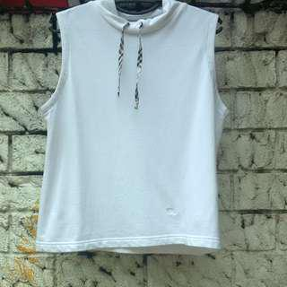 Authentic Burberry Sleeveless White Top