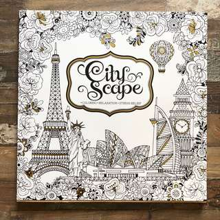Adult Coloring Book, Cityscape