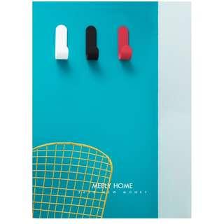 Zakka 雜貨 J型藝術創意掛勾 強力無痕黏膠