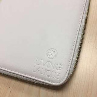 全新 Living LALIQUE White Leather Notebook 白色 記事簿 (不議價 fixed price)