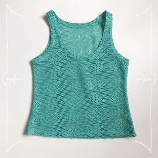 Green Knitted Sleeveless