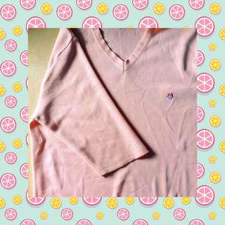 AESTHETIC oversized baby pink top