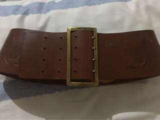 100% authentic moschino leather belt