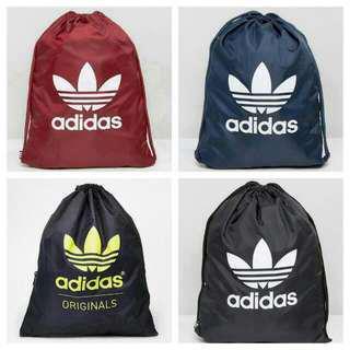 Adidas Trefoil Gymsack School Drawstring Bag Backpack