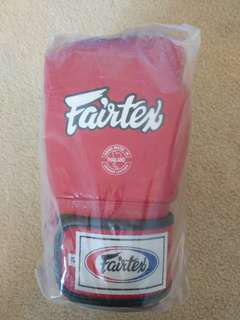 New Leather Red Fairtex Boxing Gloves 12OZ