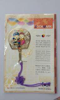 韓國製 扇形書籤 古風撥扇