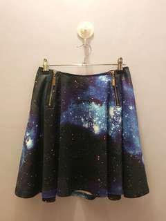Galaxy Print Skater Skirt