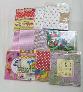 12 packs of Origami Paper