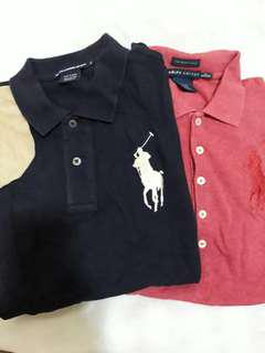 Bundle: 2 Authentic Polo Ralph Lauren Polo Shirts