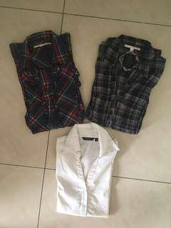 Women's shirt cotton shirt (Bundle of 3)