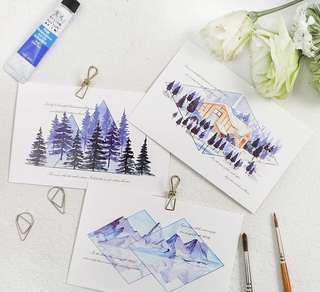 (PO) Valleys and Lakes Postcards/ Post Cards