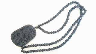 黑曜石 龍王 項鍊