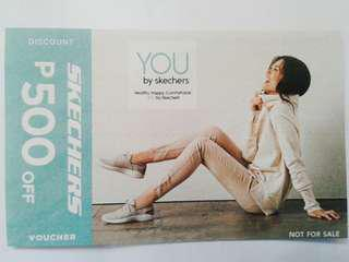 Sketchers 500 Peso Discount Voucher