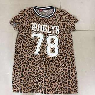 H&M leopard print long top or dress
