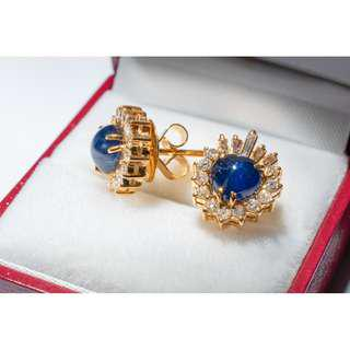 Gold Diamond Earrings Women Jewelry
