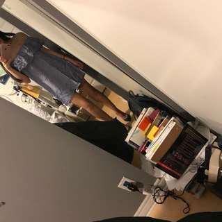Zara Denim Off-the-shoulder Dress XS